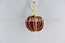glitter foam christmas decoration apple hanging