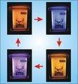 anúncio de novos produtos led motion espelho de cartazes de propaganda