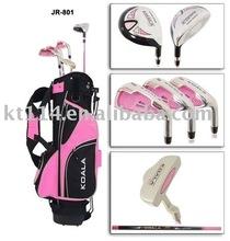 pink/black golf cart bag kid golf club
