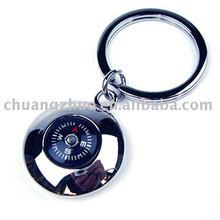 Fashion Metal Clock Keychain