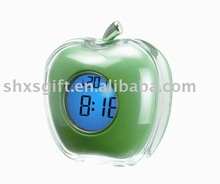 Best Quality Apple Shaped color changing Talking clock