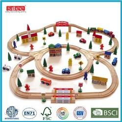 100PC wooden train set