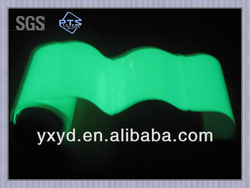 Glowing plastic film photoluminescent film