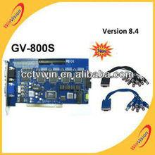 Tarjeta DVR GV tarjeta GV-800S cerrado de televisión 8.4 versión tarjeta de DVR de seguridad