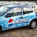 Auto adhesivo de vinilo ( vehículo material publicitario )