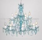 23 year factory-big blue color acrylic remote control chandelier light (120011)