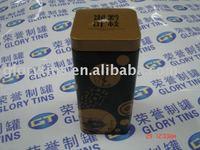 Square Perfume tin box