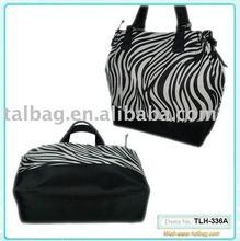 new fashionable printed microfiber lady tote bag 2012