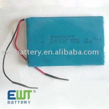 Li-polymer Mobile TV 905585 4200mAh rechargeable battery