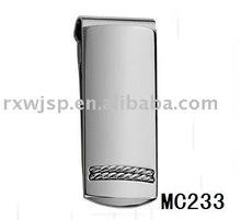 men's gift 316L stainless steel static money clip
