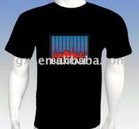 Hot!! New!! Sound Activated China manufacturer hot sale led light shirt/equalizer led shirts/el t-shirt el t-shirt