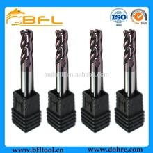 BFL 2 Flutes Tungsten Carbide Corner Radius End Mills ,Super TiAlN Coating