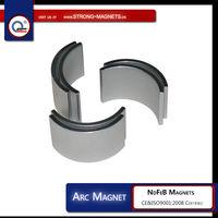 Arc Rare Earth Magnet/NdFeB Segment/Arc Magnet with N35,N38,N40,N42,N45,N48,N50,N52 grade/magnet motor