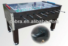 Outdoor Soccer Table Attached Manual Coin Free,Waterproof Outside Use,Glass Cover on Top
