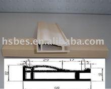 wood texture wpc door jamb with wood grain pvc foil