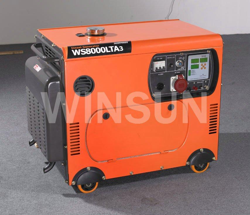9KW générateur Diesel silencieux Set - monophasé