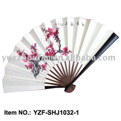 hand painted paper fan