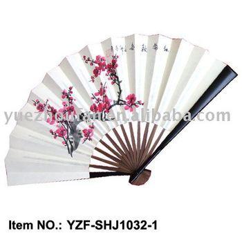 hand painted paper fan