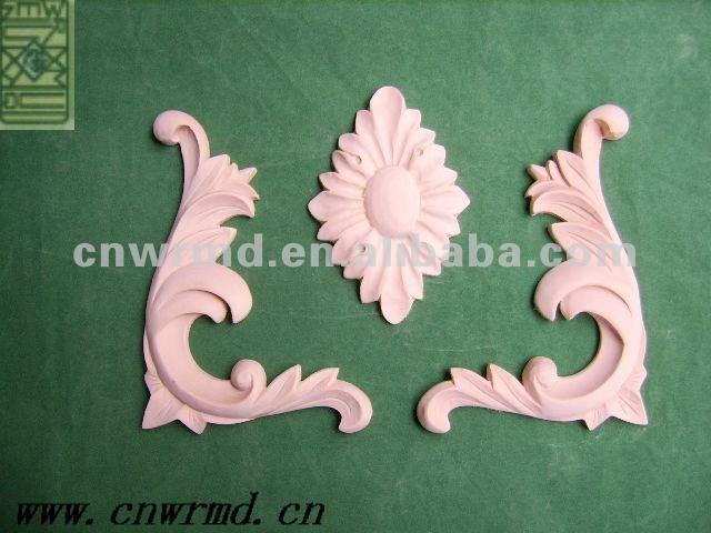 madera tallado de flores