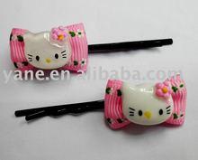 bow cat black hair clips