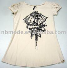 ladies' 100% cotton T-shirt OEM service