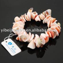 diy christmas natural sea shell stretch bracelet/shell jewelry
