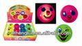 Rebote de la pelota/de juguete de plástico bola con la luz en el interior/sonriente cara de bola con led en el interior