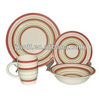 16pcs lead free stoneware dinnerware