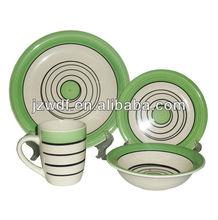 16pcs Ceramic dinnerware set with handpainting