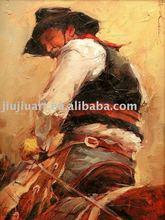 Cowboy oil painting, NZ-075