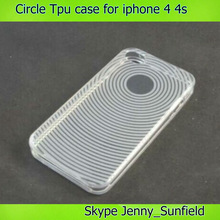 phone case circle Swivel gel ultra thin tpu Case for iphone 4 4s, for iphone 4 case tpu ,for iphone case 4s 5s 6 ultra thin