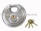 Stainless steel round cake Lock & brass key & cylider