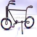 Moda bonito artesanal de alumínio artigo colorido bicicleta artesanato produtos