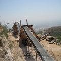 Cinta transportadora, Máquina de explotación minera
