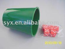 Plastic dice cup ,cup set