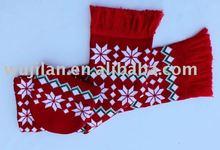 fashion jacquard knitting scarf & hat