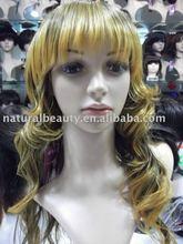 fashionable cosplay wavy wigs,kanekalon wig