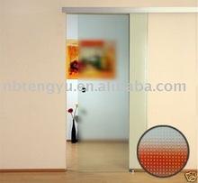 2012 brand new glass sliding door with aluminum hardware