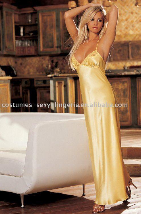 Description: hot Sexy Stylish silk nightgown 1.Sexy Nightgown make of fine ...