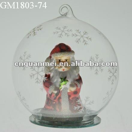 navidad adornos colgantes con santa claus dentro de la bola