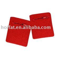 wirst card pocket sweatband
