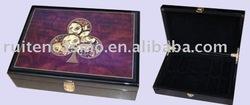 200ct wood chip case,poker chip case,chip box