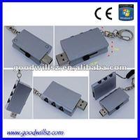 Metallic padlock/lock USB 2.0 flash drive