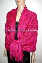Rose Pashmina crocheted fringes shawl manufactures scarfs