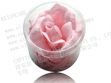 PROMOTION GIFT HANDMADE 6G SCENTED SOAP FLOWERS IN PET BOX