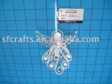 fashion design metal angel christmas tree ornament
