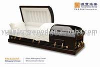 PRESIDENT Oak casket wood bunk beds for the dead