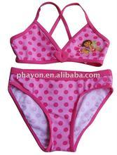girls bikini Lovely design, child swimwear, kids beachwear,