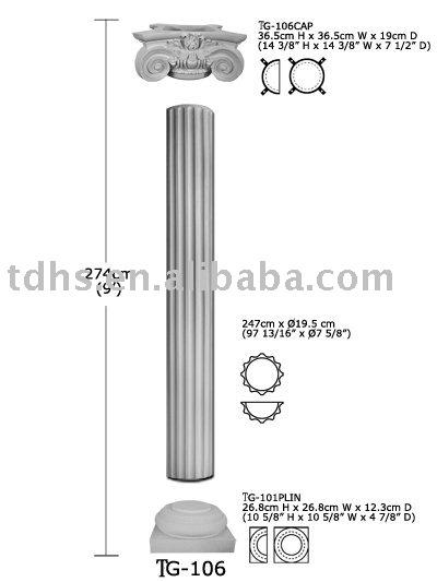 Coluna romana poliuretano