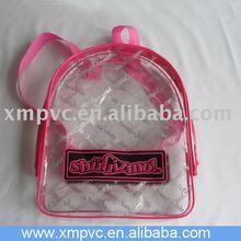 Stock PVC kids's vinyl backpack bag at school D-S073(1)